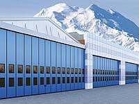 Промышленные складные ворота с нижней направляющей 4000\4000мм