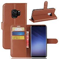 Чехол Samsung S9 / G960 книжка PU-Кожа коричневый