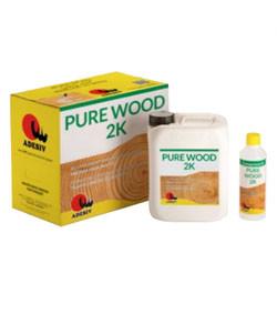 PURE WOOD 2K-двокомпонентний водний поліуретановий лак ADESIV ( 5,5 л. )