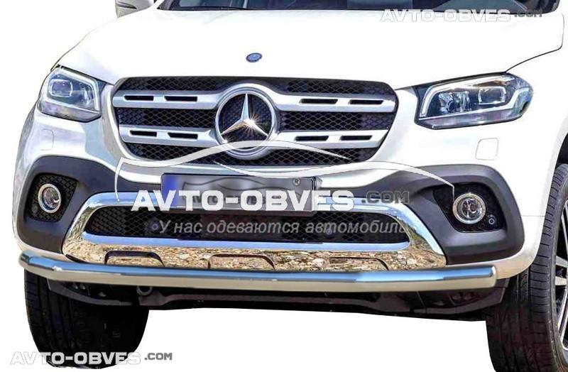 Дуга нижнего бампера одинарная Mercedes X class 2017-...