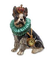 "Декоративная статуэтка с часами ""Собака Элизабет"" NS-175"