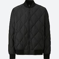 Мужская черная стеганая куртка на пуху Uniqlo, фото 1