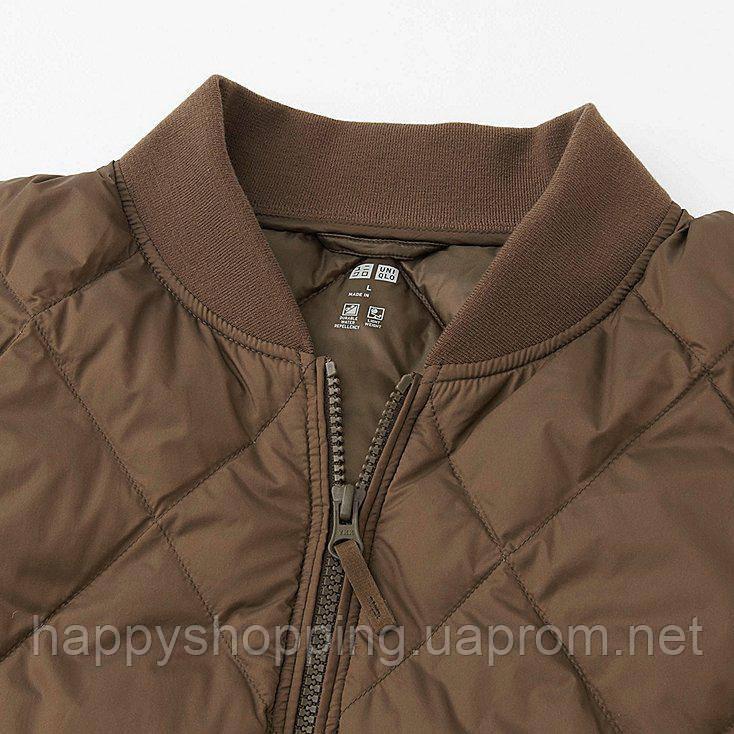 8fe18f6bbff Мужская черная стеганая куртка на пуху Uniqlo   продажа