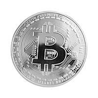 Сувенирная монета MJB Bitcoin Серебристая