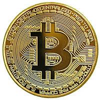 Сувенирные монеты MJB Bitcoin Золотистые