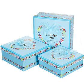 Набор подарочных коробок 3 шт. Лучшей тебе (0660J /blue)