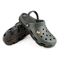 Сабо мужские (кроксы) Хаки-0611 Черный-0001 43р.