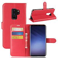 Чехол Samsung S9 Plus / G965 книжка PU-Кожа красный