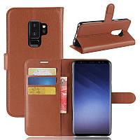 Чехол Samsung S9 Plus / G965 книжка PU-Кожа коричневый