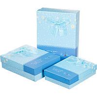 Набор подарочных коробок 3 шт. Лучшие пожелания 0652J/blue