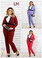 Жакет от 42 по 74 размер женский 770704 осенний весенний деловой батал на работу большой пиджак бордовый