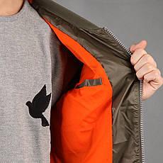 Удлиненный мужской бомбер Light Army Jacket Green от Galagowear в размере XL 52/54, фото 3