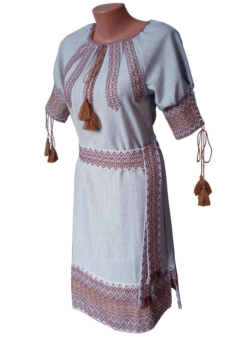 Українська вишивка плаття жіноче льон b74bf8d840133
