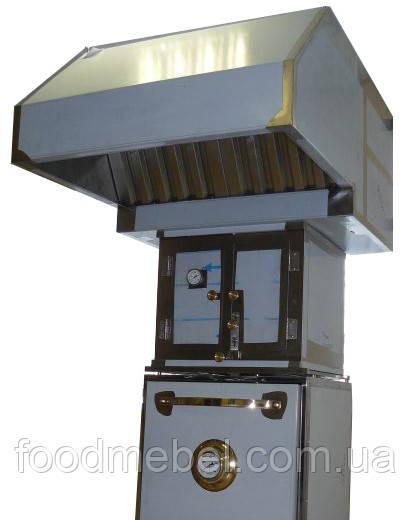 Зонт вытяжной с гидрофильтром для хоспера из нержавеющей стали