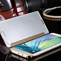 Зеркальный премиум чехол-книжка для Samsung Galaxy J5 2015