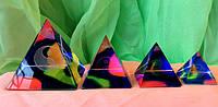 Пирамида Инь-Янь разноцветная, стекло, 4 размера.
