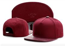 Кожаная черная кепка без надписей с прямым козырьком Snapback Hip Hop, фото 3
