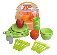 Пластиковая посуда для пикника 48 предметов