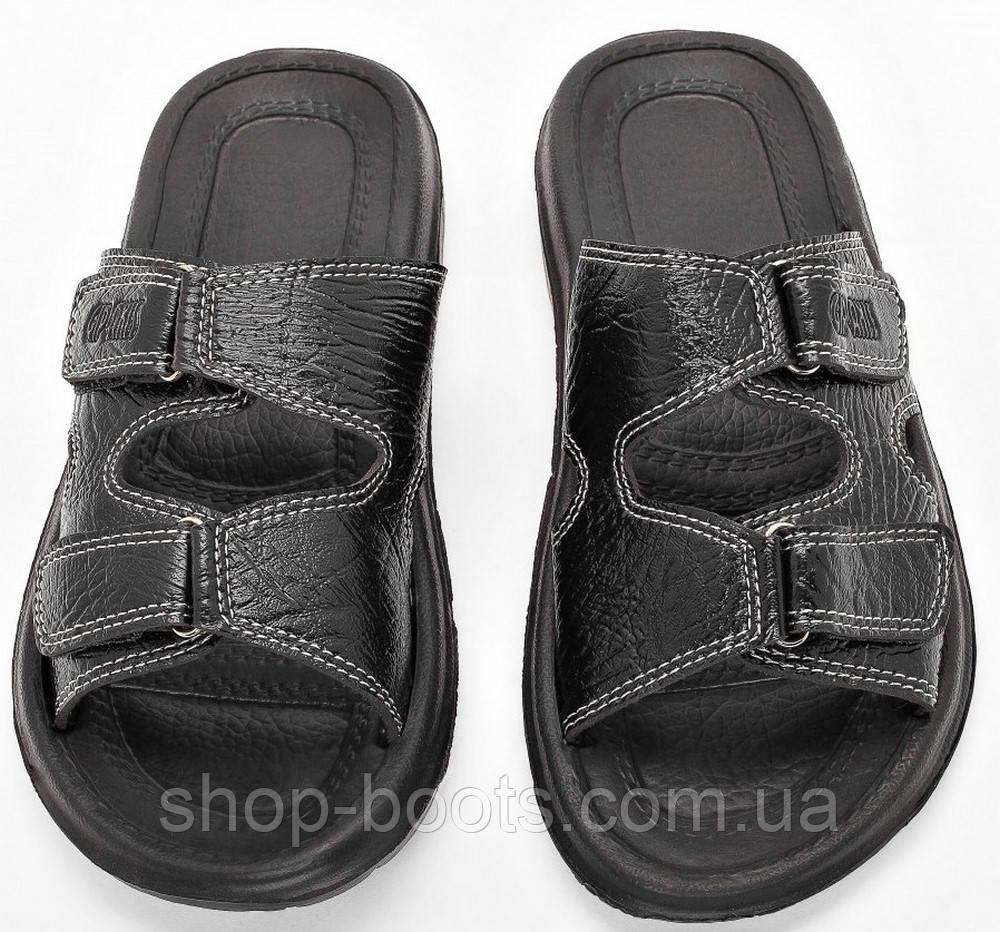 Мужские сандалии шлепанцы (кожзам) оптом Gipanis. 41-45рр. Модель сандалии M205 черный