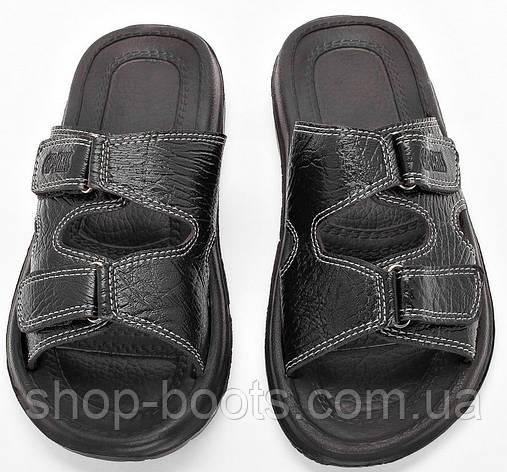 Мужские сандалии шлепанцы (кожзам) оптом Gipanis. 41-45рр. Модель сандалии M205 черный, фото 2