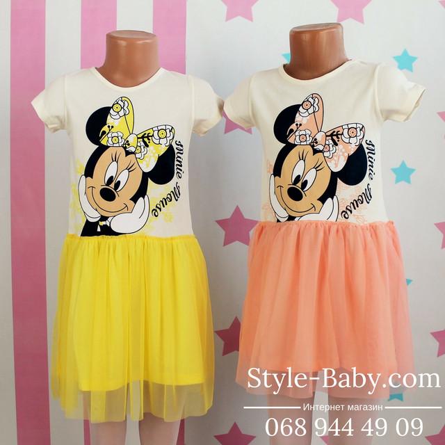 платье для девочки с минни