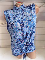 Женская блузка лето без рукава оптом