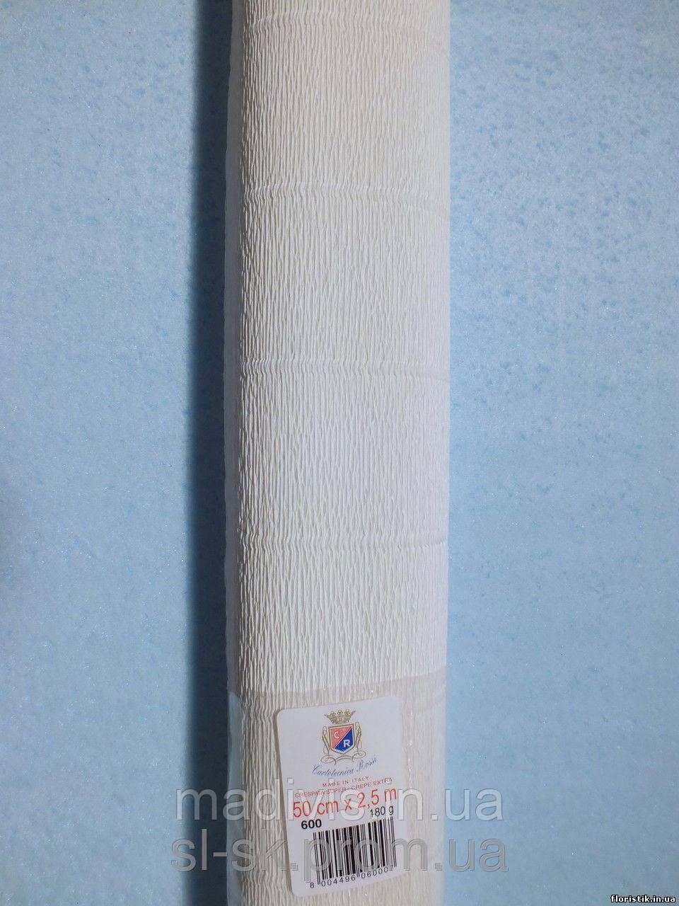 Бумага гофрированная, 600 белая