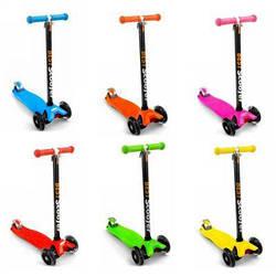 Яркий Самокат Best Scooter,  светящиеся колеса, заднее усиленное