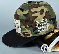 Камуфляжная кепка с прямым козырьком Snapback DGK