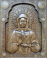 Икона резная Святая Матрона, фото 1