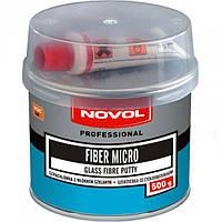 Novol FIBER MICRO Шпатлевка со стекловолокном, вес 0,5 кг