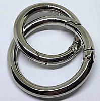 Кольцо карабин 40 мм никель