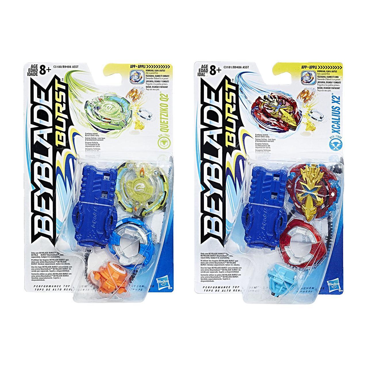Набор волчок Кветзико Q2 и Екскалиус X2 Beyblade Burst 2-Pack Value Starter Pack Quetziko Q2 and Xcalius X2