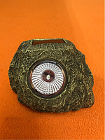 Декоративный Садовый светильник на солнечной батарее CAB90 камень, фото 1