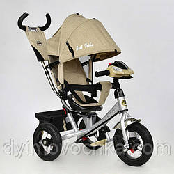 Детский трехколёсный велосипед 7700 В - 5780 Best Trike, бежевый лен