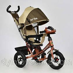 Детский трехколёсный велосипед 7700 В - 6450 Best Trike, шоколадно-бежевый