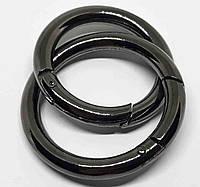 Кольцо карабин 30 мм темный никель