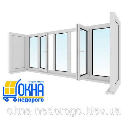 Остекление П-образного балкона , фото 2