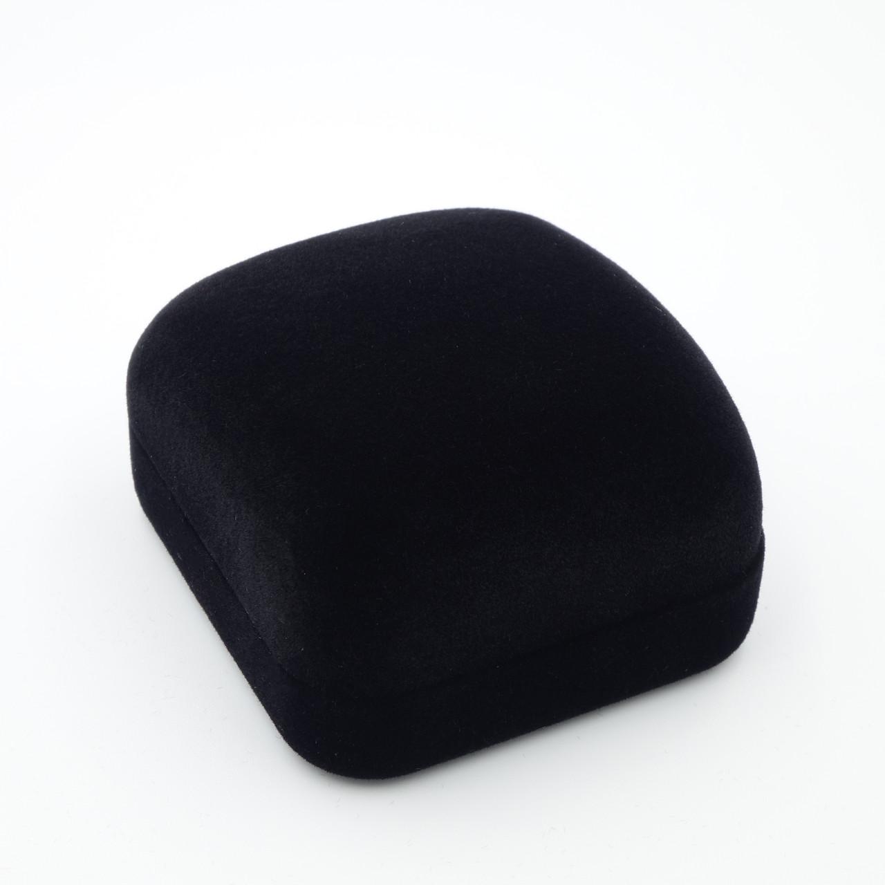 """Футляр под кольцо """"Классика прямоугольная"""" черный"""