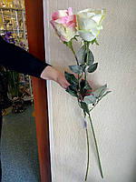 Цветы искусственные роза крупная 75см