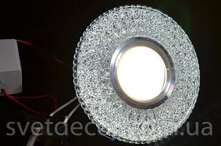 Точечные светодиодные светильники с LED подсветкой