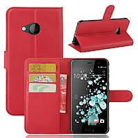 Чехол HTC U Play книжка PU-Кожа красный
