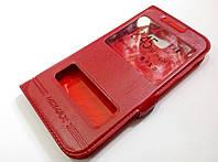 Чехол книжка с окошками momax для Samsung A5 a520 (2017) красный