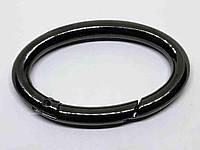 Кольцо карабин овал 40 мм темный никель