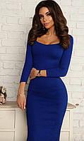 Женское удлинённое красивое платье 6 цветов недорого, фото 1