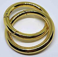 Кольцо карабин 40 мм золото