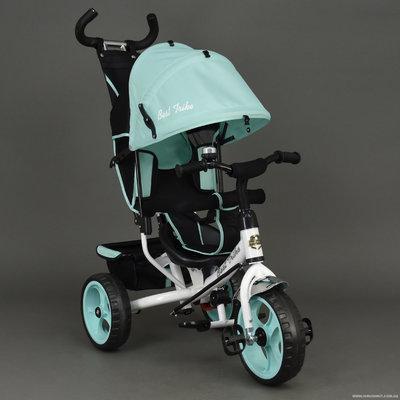 Трехколесный велосипед бирюзовый, колеса пена