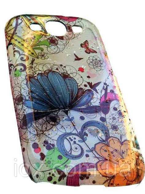 Чехол к Samsung GalaxyS3 (i9300) с разными цветочками
