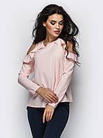 Елегантна блуза жіноча розова розмір 44