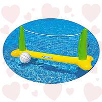 Intex 56508 (239х64х91 см) надувной игровой центр волейбол на воде